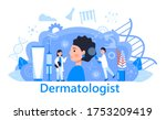 dermatologist concept vector... | Shutterstock .eps vector #1753209419