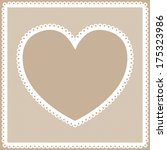 lacy heart frame  | Shutterstock . vector #175323986