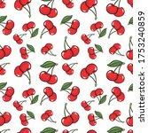 cherry seamless pattern. swatch ...   Shutterstock .eps vector #1753240859