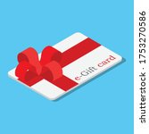 E Gift Cards With Red Bow And...