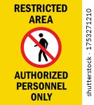 restricted area   authorized...   Shutterstock .eps vector #1753271210