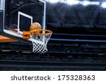 Large Basketball Arena With...
