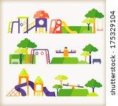 playground  | Shutterstock .eps vector #175329104
