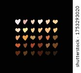 raised hearts of different race ... | Shutterstock .eps vector #1753293020