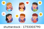 boys and girls kids gesturing ... | Shutterstock .eps vector #1753303790
