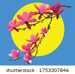 orchid flower painting colored...   Shutterstock .eps vector #1753307846