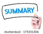 summary handwritten on glas | Shutterstock . vector #175331306