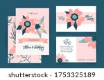 wedding invitation card set... | Shutterstock .eps vector #1753325189
