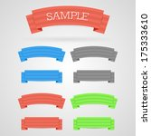 set of color retro ribbons | Shutterstock . vector #175333610