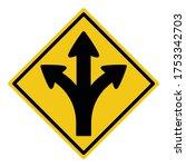 turn left or right or go... | Shutterstock .eps vector #1753342703