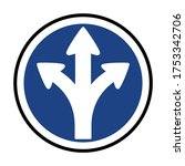turn left or right or go... | Shutterstock .eps vector #1753342706