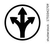 turn left or right or go... | Shutterstock .eps vector #1753342709