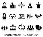 business meeting icons set | Shutterstock .eps vector #175334354