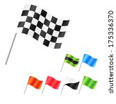 set of clean isolated flags ... | Shutterstock . vector #175336370