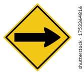 turn right sign  turn right... | Shutterstock .eps vector #1753364816