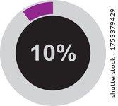ten percentage circle icon  100 ...