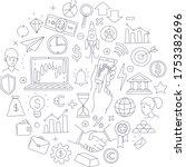 trading exchange round pattern... | Shutterstock .eps vector #1753382696