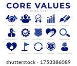 company core values icon set....   Shutterstock .eps vector #1753386089