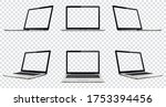 laptop with transparent screen... | Shutterstock .eps vector #1753394456