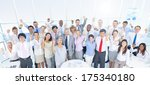 large group of business people... | Shutterstock . vector #175340180