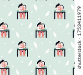 seamless pattern with... | Shutterstock .eps vector #1753411979