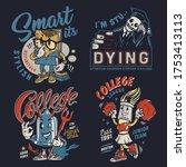 college colorful vintage badges ... | Shutterstock . vector #1753413113