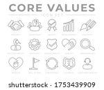 company core values outline web ... | Shutterstock .eps vector #1753439909