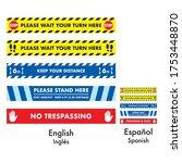 floor stickers distance lines... | Shutterstock .eps vector #1753448870