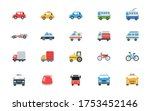 car vector icons set. land... | Shutterstock .eps vector #1753452146