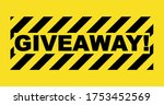 giveaway poster with abstract... | Shutterstock .eps vector #1753452569