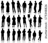 black silhouettes of beautiful... | Shutterstock .eps vector #175348826