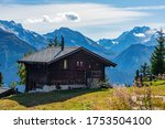 Idyllic Landscape In Swiss Alps ...