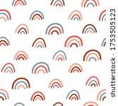 rainbow vector background... | Shutterstock .eps vector #1753505123