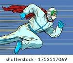 hero doctor runs. covid19... | Shutterstock .eps vector #1753517069