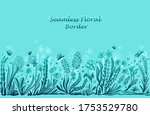 blue background with seamless... | Shutterstock .eps vector #1753529780