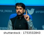 Small photo of New Delhi/India May -17 , 2020 : Anurag Thakur Minister of State Finance and Corporate Affairs of India in a press conference .