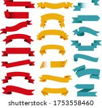 colorful retro red web ribbon... | Shutterstock .eps vector #1753558460