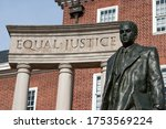"""""""equal Justice"""" Inscribed On..."""