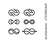 simple infinity set logo design ...   Shutterstock .eps vector #1753581569