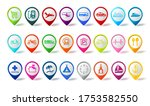 travel pin icon vector set.... | Shutterstock .eps vector #1753582550