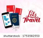 lets go travel vector design...   Shutterstock .eps vector #1753582553