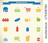 supermarket  groceries icons  | Shutterstock .eps vector #175358783