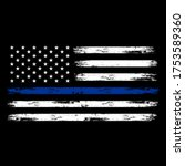 illustration us police flag... | Shutterstock .eps vector #1753589360