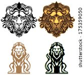 lion logo set | Shutterstock .eps vector #175359050