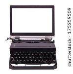 Utopian Old Typewriter With A...