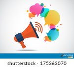 megaphone with cloud of... | Shutterstock .eps vector #175363070