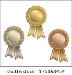 set of circle awards with... | Shutterstock .eps vector #175363454