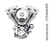 v twin engine premium vector... | Shutterstock .eps vector #1753646309