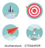 flat design set icons start up... | Shutterstock .eps vector #175364939