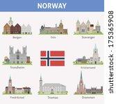 norway. symbols of cities....   Shutterstock .eps vector #175365908